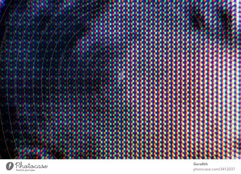 abstraktes Hintergrundmuster aus farbigen, verschwommenen Punkten auf dunklem Hintergrund abstrakter Hintergrund Abstraktes Muster schwarz blanko blau Unschärfe