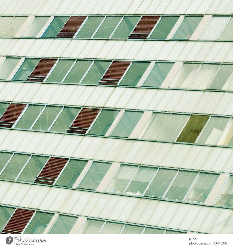 lüften Bochum Ruhrgebiet Nordrhein-Westfalen Stadt bevölkert Haus Hochhaus Bauwerk Gebäude Architektur Fassade Glas Metall Feindseligkeit Hoffnung Wohnung