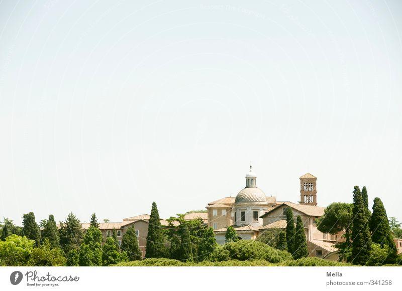 Ewig Ferien & Urlaub & Reisen Tourismus Sightseeing Städtereise Sommer Rom Italien Europa Stadt Hauptstadt Stadtzentrum Haus Turm Bauwerk Gebäude Architektur
