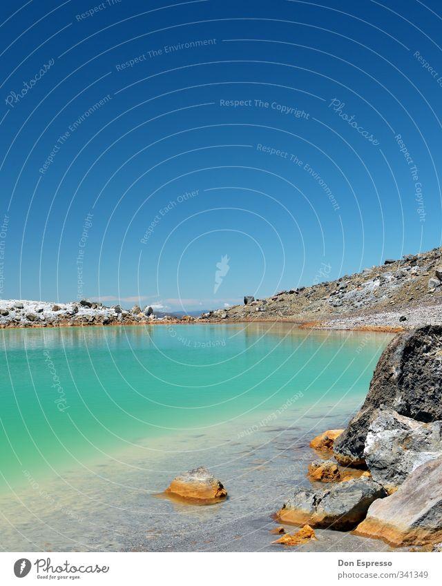 Tongariro Alpine Crossing Himmel blau grün Wasser See Neuseeland Tangariro Nationalpark