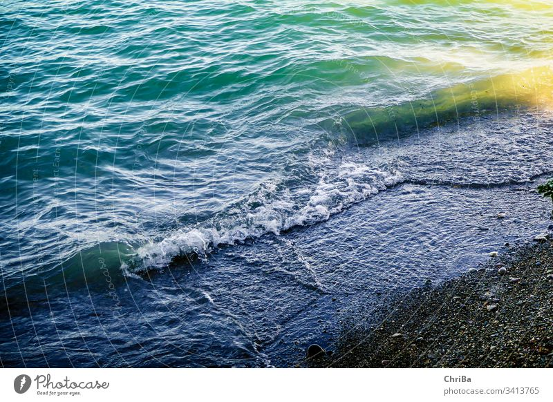 Wellen am Strand des Bodensees lake lake constance bodensee beach wave sand water shore turquoise blue coast nature natural summer beautiful view sunny outdoors