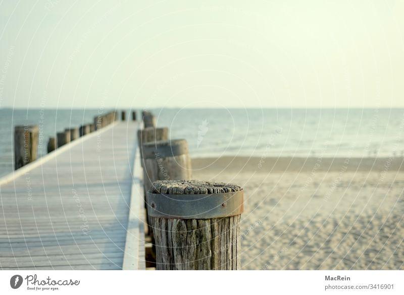 Laufsteg zum Meer laufsteg strand meer Duhnen urlaub ferien holzpfosten niemand textfreiraum nordsee ostsee sylt norderney amrum büsum föhr helgoland wasser