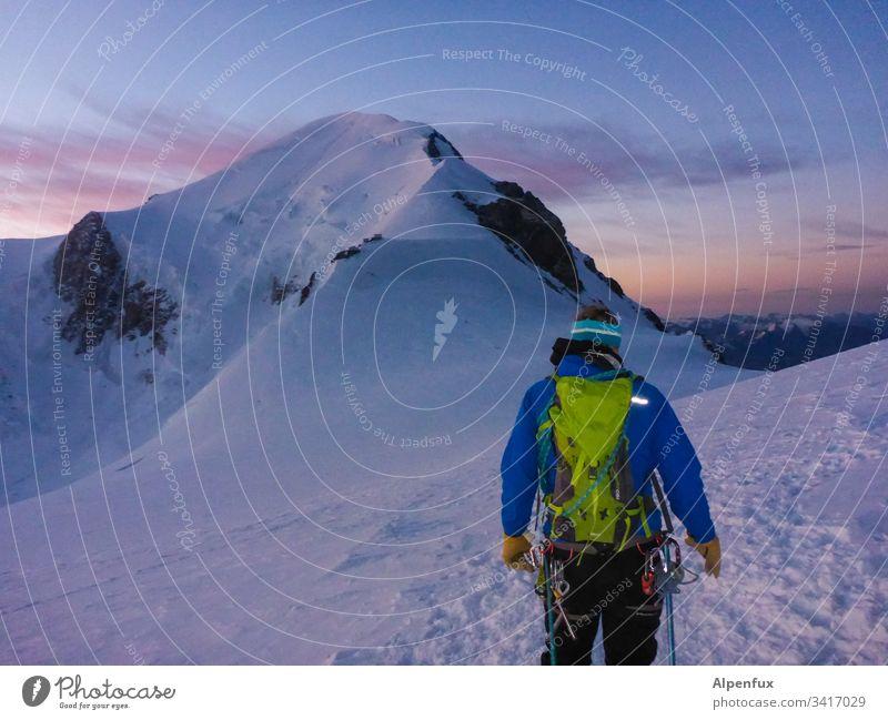 Seilschaft | Ziel in Sicht Mont Blanc Berge u. Gebirge Schnee Gletscher Gipfel Abenteuer Außenaufnahme Frankreich Chamonix Europa Landschaft weiß Erfolg Alpen