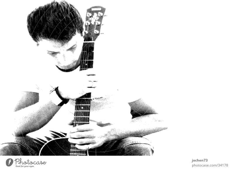 Gedanken Mann Gitarre