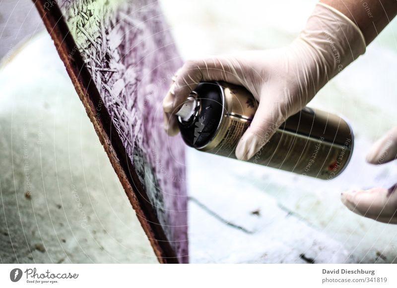 Graffiti rockt!!! grün weiß Hand Farbe Freude schwarz Wand Mauer Stil Kunst Design Kultur Jugendkultur violett Gemälde