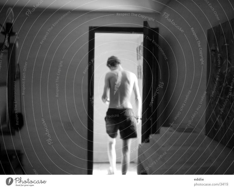 Auch ein Rücken kann entzücken :-) Mann Schwarzweißfoto