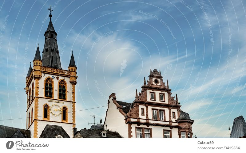Sankt Gangolf Kirche Gebäudefassade Moseltal Denkmal Rheinland-Pfalz Idylle katholisch rheinland-Pfalz im Freien Sightseeing Trier Deutschland Großstadt