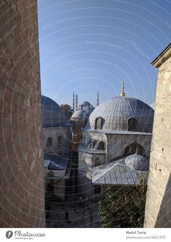 window outlook from Hagia Sophia to Sultan Ahmed Mosque turkey turkish Sultanahmet Sultan Ahmet