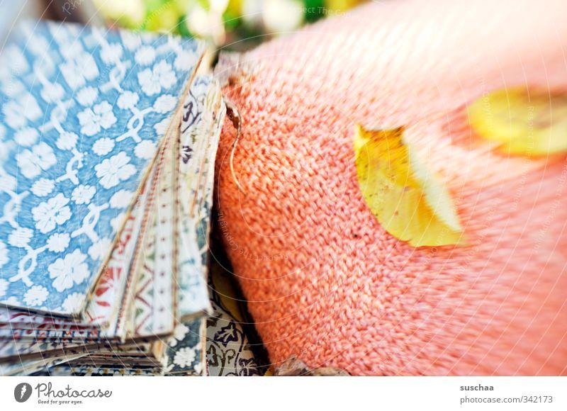 zeit alt ruhig Blatt Herbst Buch Warmherzigkeit retro lesen Kissen