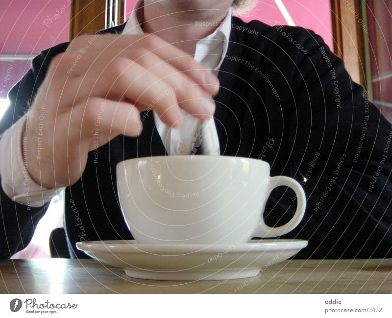 einmal latte bitte... Kaffee Freizeit & Hobby Tasse Holzbrett rühren