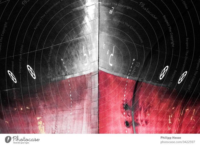 Schiffsbug Schleife Stahl Containerschiff Gefäße