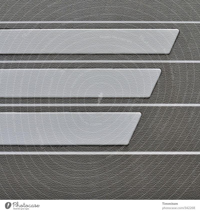 3,4 und 5. weiß Gefühle grau Linie ästhetisch einfach Streifen Sauberkeit Klarheit Kunststoff Beschichtung
