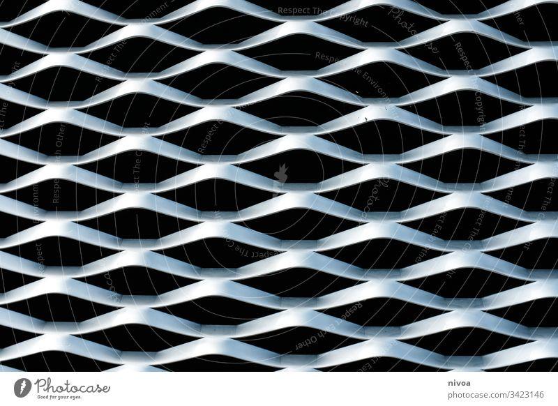 Struktur Gebäudefassade Strukturen & Formen struktur Fassade verkleidung der fassaden Architektur Muster schwarz silber Metall Wabenmuster Wellen Wellenform