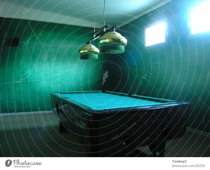 Billiard Billard grün Spielen Wohnzimmer kultig Fototechnik Billiard spielen Fun
