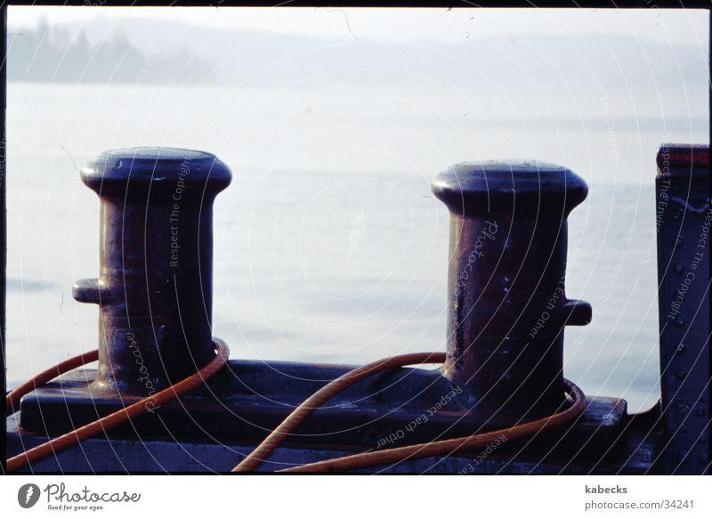 Feste Verbindung Wasser See Wasserfahrzeug Seil Verbindung Schifffahrt Fähre