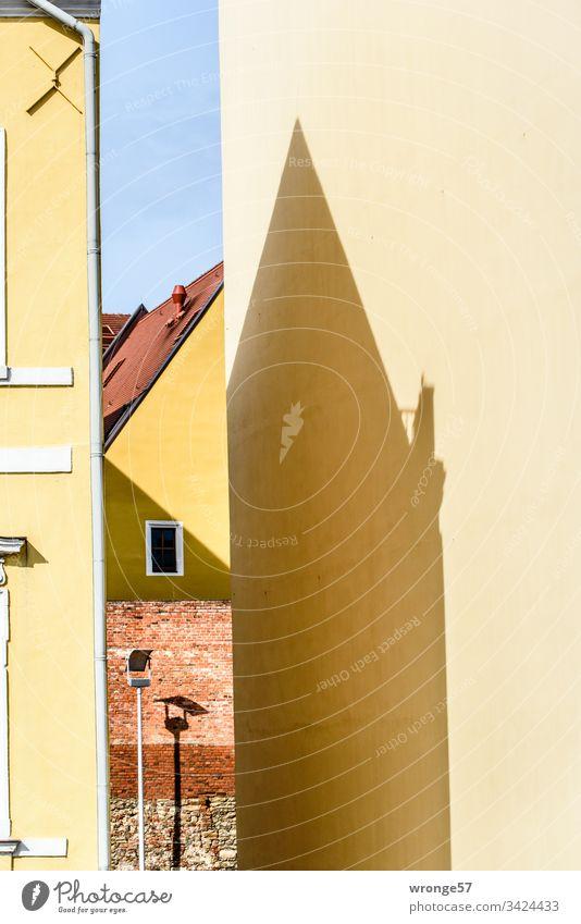 Magdeburger Fassaden am Fürstenwall Giebel Gebäude Farbfoto Stadt Außenaufnahme Menschenleer Architektur Mauer Wand Fenster mehrfarbig Haus Bauwerk Himmel