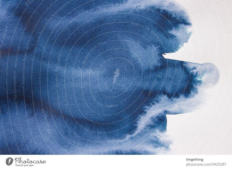Indigo Blaue Auqarellfarbe Auf Aquarellpapier aquarell aqurallfarbe aquarellpapier papierstruktur papiertextur hintergrund design grafik element abstrakt