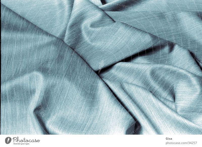 Falten 2 blau Industrie weich Stoff Material Textilien Faltenwurf Schurwolle