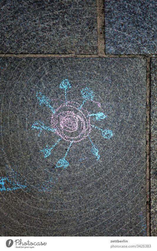 SARS corona gehweg gehwegplatte gesundheit illustration kinderzeichnung krankheit malerei pflaster pflastermalerei piktogramm virus wissenschaft SARS-CoV-2