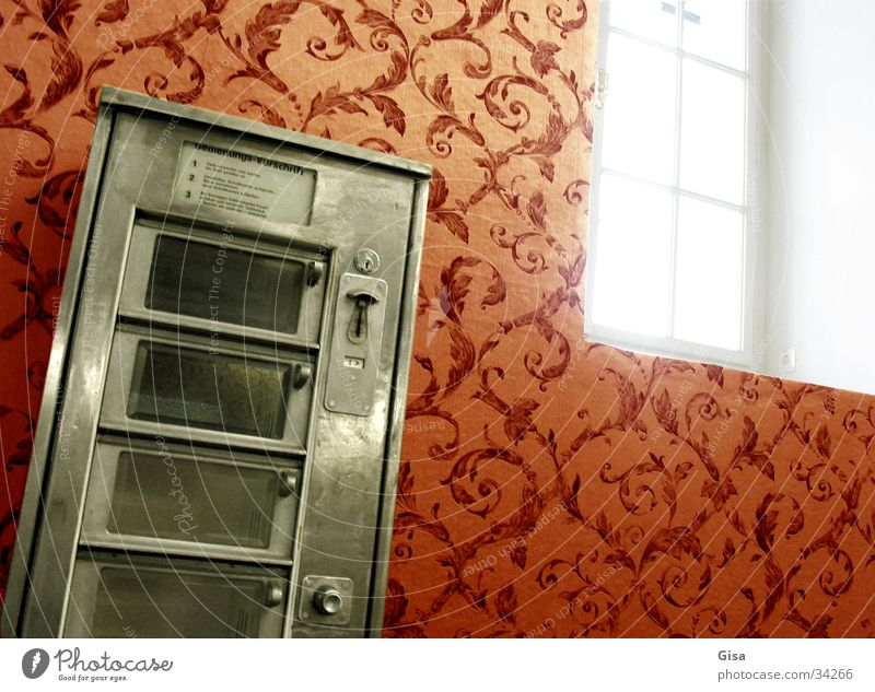 Automatenfenster Fenster Raum Pause Tapete Nostalgie Automat Automatisierung