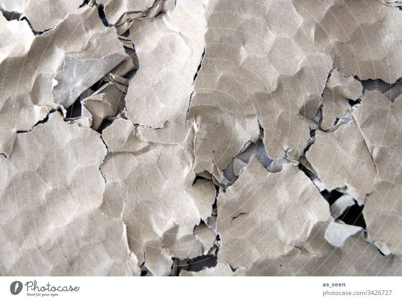 Papp-Struktur Pappe Wellpappe Papier Verpackungsmaterial zerdrückt Muster Strukturen und Formen kaputt Farbfoto Menschenleer Strukturen & Formen Nahaufnahme