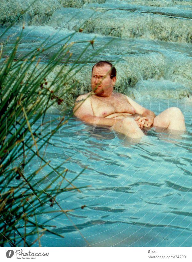 lass uns baden! Mann Wasser Sommer nackt Italien Schwimmen & Baden Übergewicht dick Fett