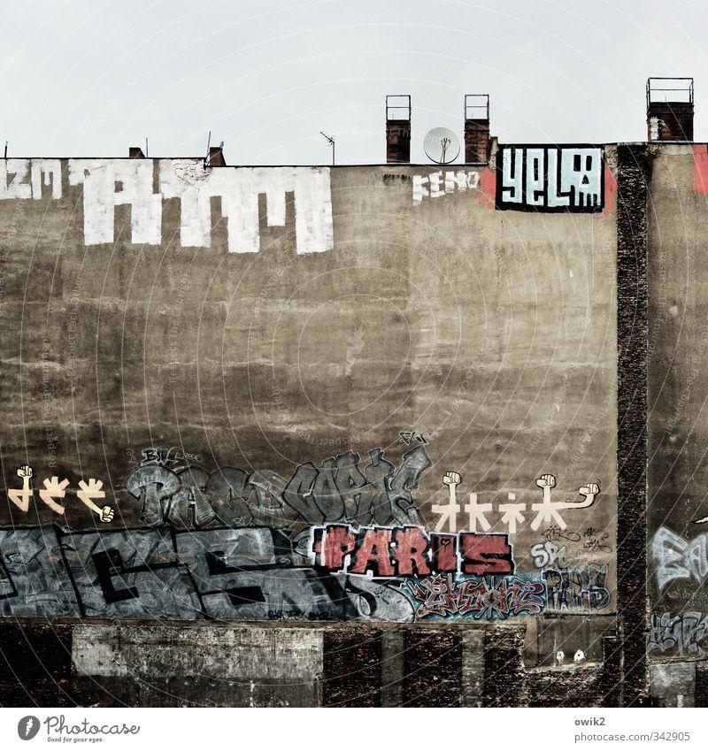 Buntes Berlin Haus Wand Graffiti Mauer Stein Fassade wild Freizeit & Hobby Schriftzeichen groß hoch Zeichen Gemälde Hauptstadt Stadtzentrum
