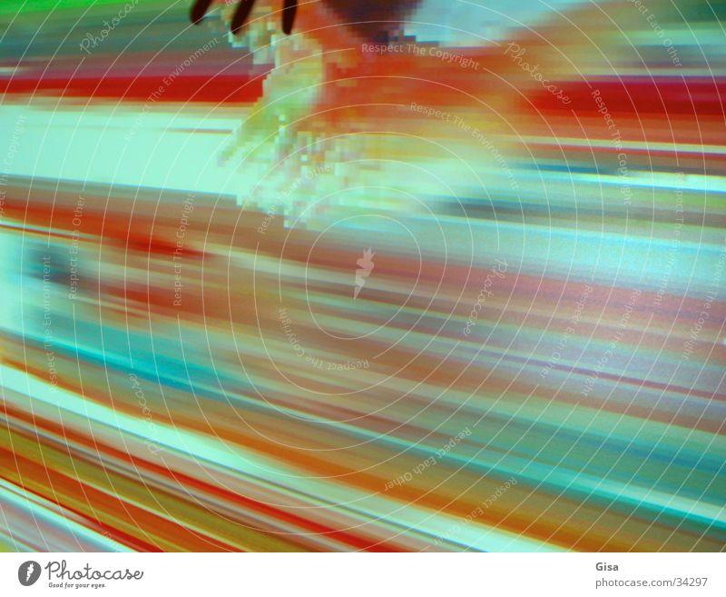 Interaktive Farben Hand Farbe Bewegung Wärme Streifen Wissenschaften Bildschirm