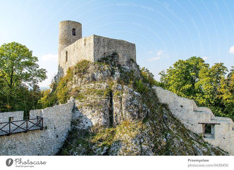 Burgruine aus dem XIV. Jahrhundert in Smolen (Polen) Ruinen Burg oder Schloss smolen reisen Tourismus mittelalterlich historisch Wahrzeichen im Freien