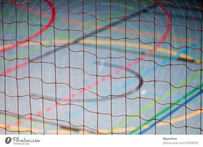bunt vernetzt | Seilschaft Netz Linien farbenfroh mehrfarbig grün orange blau rot abstrakt Menschenleer Farbe Farbfoto Hintergrund Strukturen & Formen