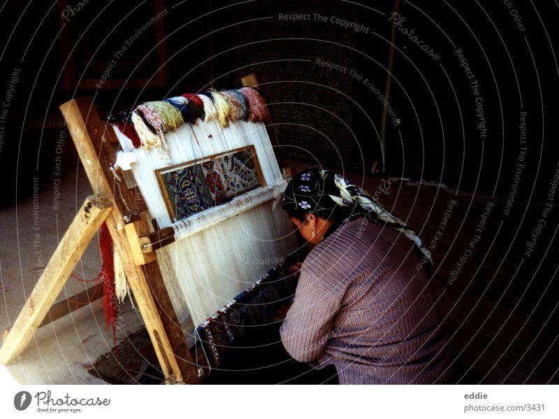 Weberin Türkei Kultur Stoff Frau Tradition gewebt