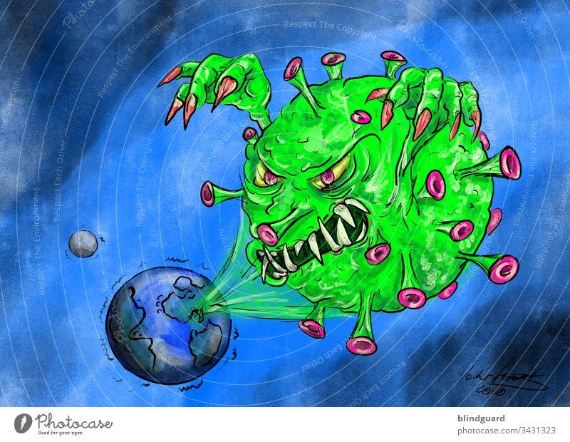 Corona – Das Virus, das die Welt bedroht. pandemie coronavirus krankheit grippe influenza tod tot gefahr ansteckung mutation Seuche Infektionsgefahr Krankheit