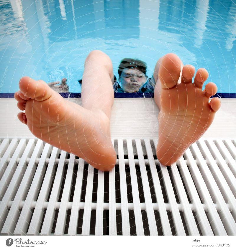 Sommer unter Wasser Mensch Kind Ferien & Urlaub & Reisen Freude Erholung Gesicht Leben Gefühle Junge Schwimmen & Baden Kindheit Freizeit & Hobby Zufriedenheit Tourismus Lifestyle tauchen