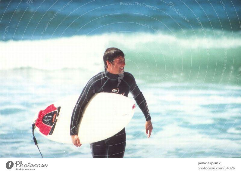 Surfer Mann Wasser Strand Sport Wellen Surfen