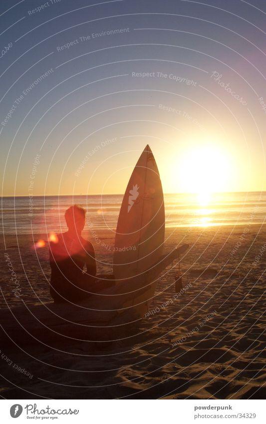 Sunset Beach Sonne Meer Strand Surfen Surfer