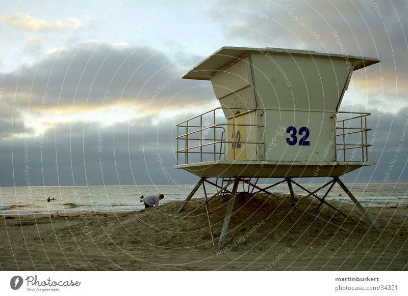 Lifeguard Tower Wasser Meer Strand Wolken Sand Küste Architektur Horizont Station Abenddämmerung Kanada Hochsitz Vancouver Strandposten Sandstrand Wolkenhimmel
