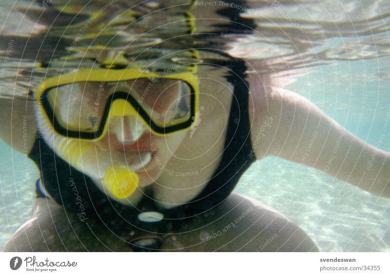 Die Taucherin Frau Wasser Meer Freude Ferien & Urlaub & Reisen Freizeit & Hobby