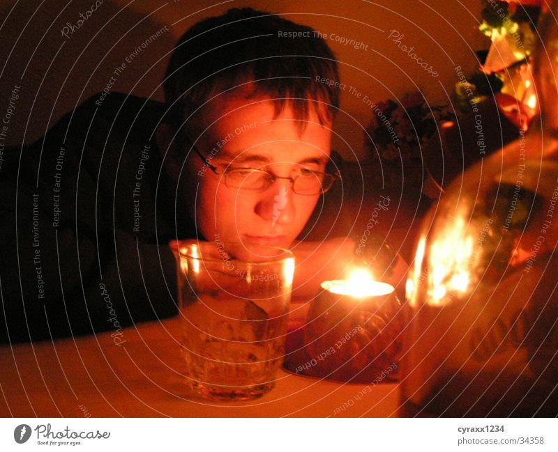 Nachtgedanken Stimmung Kerze Kerzenschein