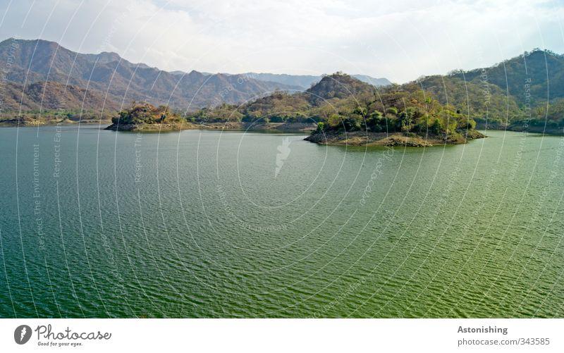 Ranakpur Dam Himmel Natur blau grün Wasser Pflanze Baum Landschaft Wolken Wald Umwelt Berge u. Gebirge Frühling Reisefotografie See Horizont