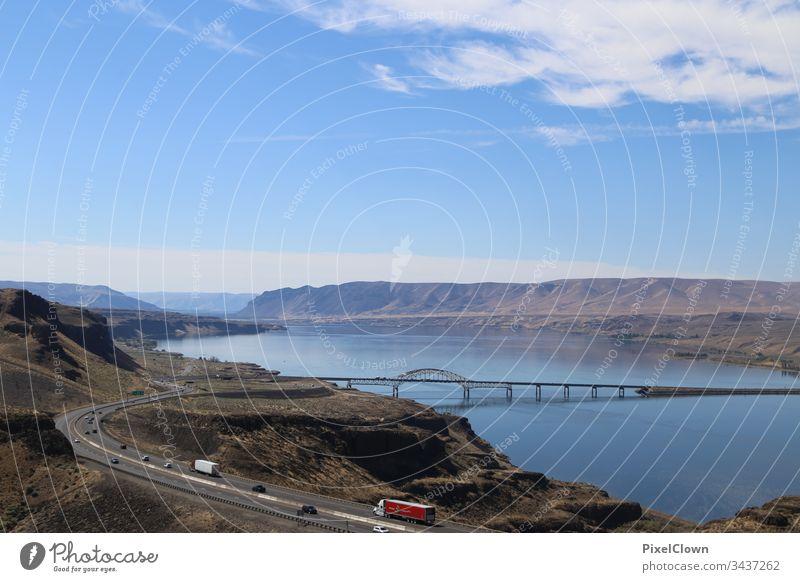 Irgendwo in Montana Amerika USA Nordamerika Ferien & Urlaub & Reisen Tourismus Landschaft Himmel Fernweh Brücke, outdoor
