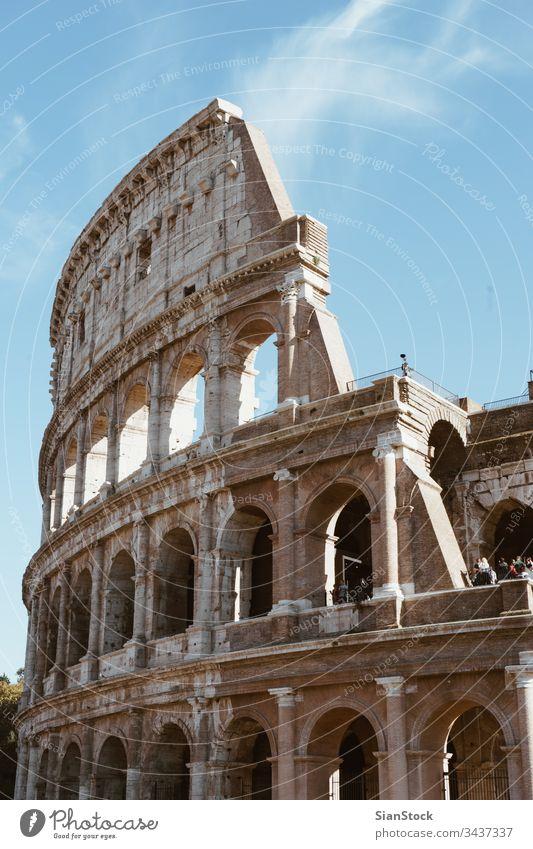 Kolosseum in Rom, Italien Kolosseo Roma Römer antik Europa alt Wahrzeichen Gebäude berühmt Architektur Stein Italienisch Gladiator Denkmal Ruine Arena