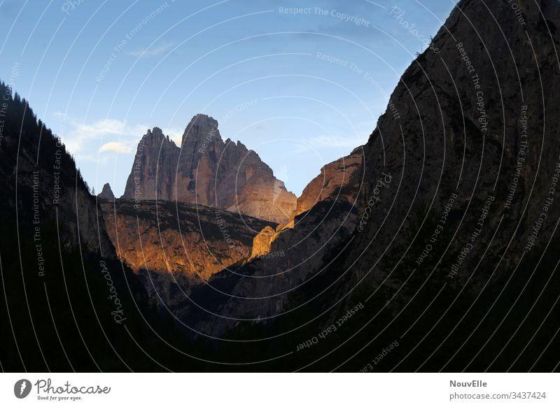 Unterwegs in Italien Dolomiten Berge u. Gebirge Aussicht Abend Sonnenuntergang Drei Zinnen Südtirol