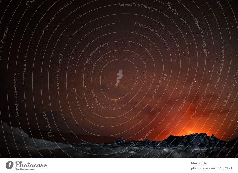 Unterwegs auf Hawaii USA Lava Vulkan Sternenhimmel Lavafeld infernalisch Feuer
