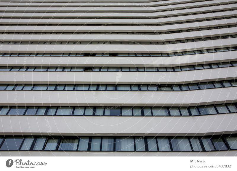 Hochhaus Architektur Gebäude Stadt Fenster Fassade Bauwerk Stadtzentrum Bürogebäude Perspektive urban Glas Bankgebäude Symmetrie hoch modern Gardine
