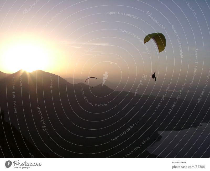 sun diving 3 Berge u. Gebirge Gipfel Gleitschirmfliegen Fallschirm