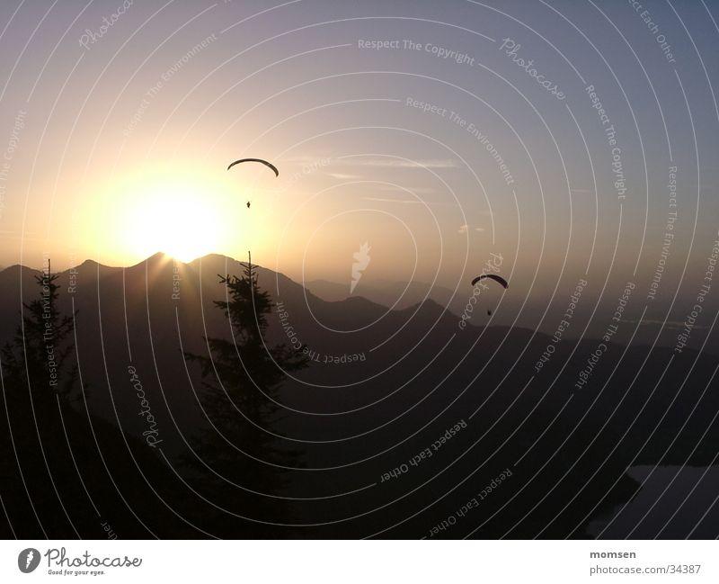 sun diving again Berge u. Gebirge Gipfel Gleitschirmfliegen Fallschirm