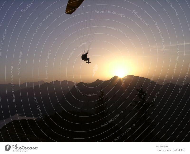 sun diving Berge u. Gebirge Gipfel Gleitschirmfliegen Fallschirm