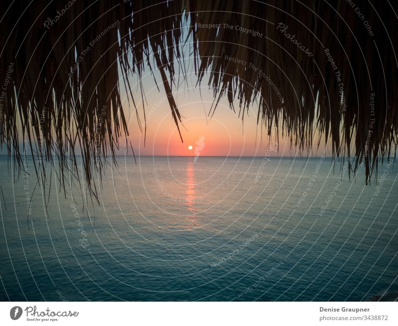 Sonnenuntergang auf Curacao curacao Karibik Küste Meer Strand Antillen MEER Wasser tropisch Insel holländisch Niederlande Abend Nacht Bucht blau Morgendämmerung