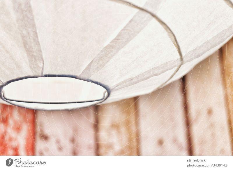 weiße Lampe aus Papier Lampenschirm Licht Leuchte leuchten hell