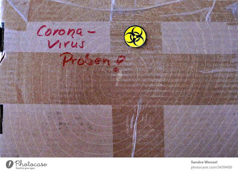 Paket mit Corona-Virus-Proben coronavirus coronakrise Coronatest Gesundheit Labor Untersuchung Test Testverfahren Virusproben Wirtschaftskrise Verseuchung